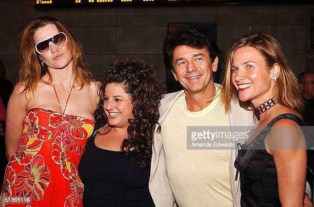 Actors Lucy Lawless Marissa Jaret Winokur Adrian Zmed and wife Susan attend the opening night of 'The Ten Commandments The Spectacle Musical' at the...