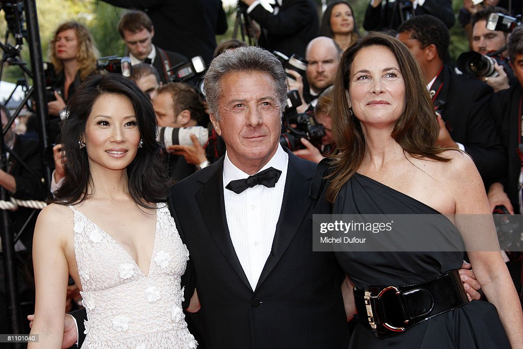 Actors Lucy Liu and Dustin Hoffman and his wife Lisa Hoffman arrive at the Kung Fu Panda Premiere at the Palais des Festivals during the 61st International Cannes Film Festival May 15, 2008 in Cannes, France.