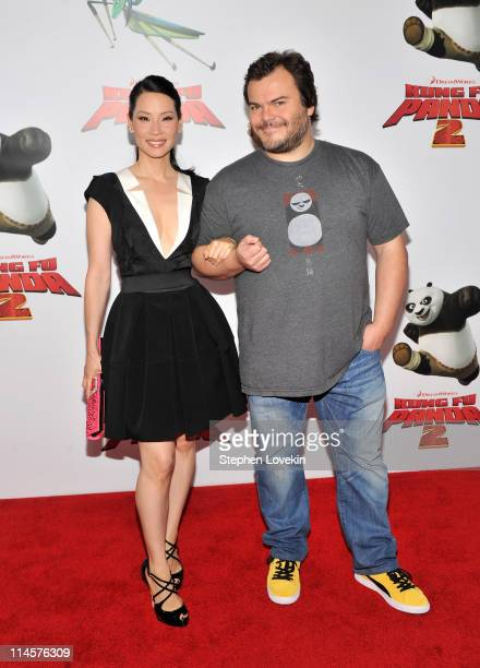 Actors Lucy Liu and Jack Black attend the New York premiere of Kung Fu Panda 2 at Ziegfeld Theatre on May 24 2011 in New York City