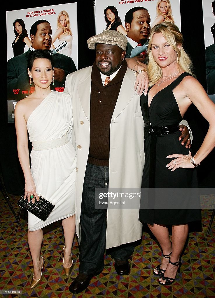 Actors Lucy Liu, Cedric The Entertainer and Nicollette Sheridan attend the premiere of ''Code Name: The Cleaner'' at The Empire 25, January 04, 2007 in New York City.