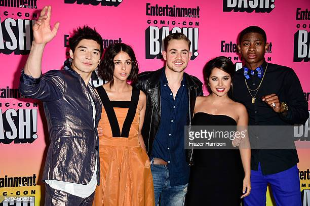 Actors Ludi Lin Naomi Scott Dacre Montgomery Becky G and RJ Cyler attend Entertainment Weekly's ComicCon Bash held at Float Hard Rock Hotel San Diego...