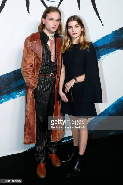 Actors Lukas Ionesco and Galatea Bellugi attend the Dior Homme Menswear Fall/Winter 20192020 show as part of Paris Fashion Week on January 18 2019 in...