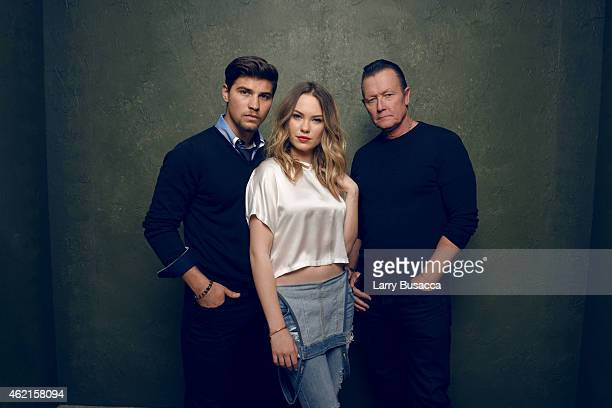 "Actors Luke Bilyk, Chloe Rose and Robert Patrick of ""Hellion"" pose for a portrait at the Village at the Lift Presented by McDonald's McCafe during..."