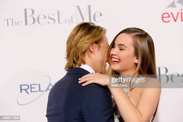 "Actors Luke Bracey and Liana Liberato attend the premiere of Relativity Studios' ""The Best Of Me"" at Regal Cinemas L.A. Live on October 7, 2014 in..."
