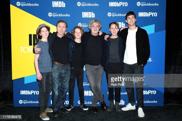 Actors Luke Doyle Tim Roth Misha Handley director Francois Girard actors Gerran Howell and Jonah HauerKing attend The IMDb Studio Presented By Intuit...