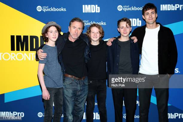 Actors Luke Doyle Tim Roth Misha Handley Gerran Howell and Jonah HauerKing attend The IMDb Studio Presented By Intuit QuickBooks at Toronto 2019 at...