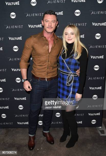 Actors Luke Evans and Dakota Fanning attends The Alienist Special Screening during Sundance Film Festival 2018 at The Vulture Spot on January 19 2018...