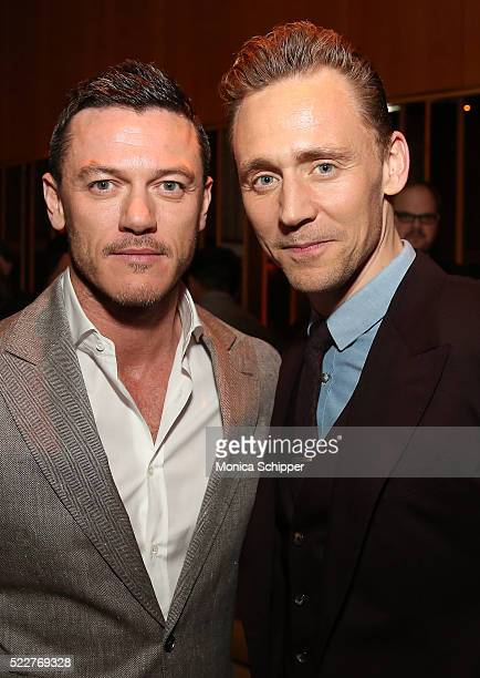 Actors Luke Evans and Tom Hiddleston attend the 2016 Tribeca Film Festival After Party For HighRise Sponsored By EFFEN Vodka at The Top of The...