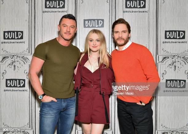 Actors Luke Evans Dakota Fanning and Daniel Brühl visit Build Series to discuss TNT's TV period drama mystery series 'The Alienist' at Build Studio...