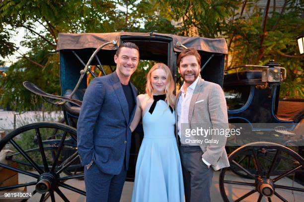 Actors Luke Evans Dakota Fanning and Daniel Bruhl attend The Alienist Los Angeles For Your Consideration Event at Wallis Annenberg Center for the...