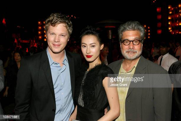 Actors Luke Ford Isabella Leong and producer Sean Daniel attend the after party for the American premiere of The Mummy Tomb Of The Dragon Emperor at...
