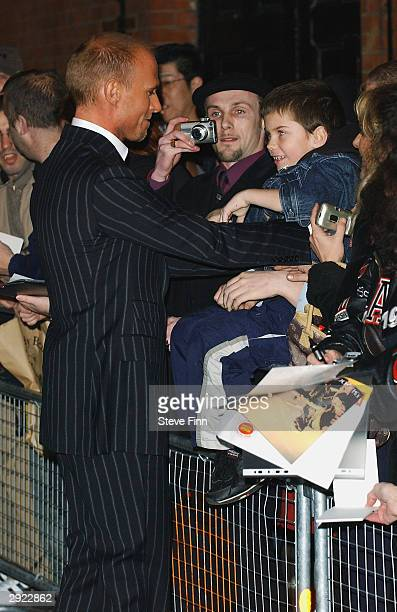 Actors Luke Goss and Alfie Furneaux attend the UK Premiere of Charlie at the Warner Village Cinema West End on February 2 2004 in London Charlie is...
