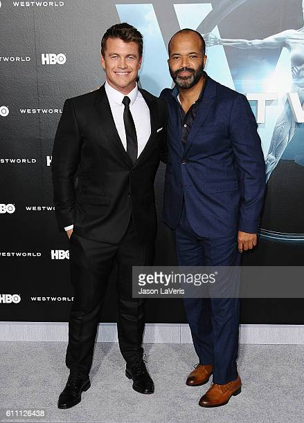 Actors Luke Hemsworth and Jeffrey Wright attend the premiere of Westworld at TCL Chinese Theatre on September 28 2016 in Hollywood California