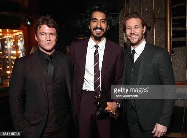 Actors Luke Hemsworth Dev Patel and Luke Bracey attend The 6th AACTA International Awards on January 6 2017 in Los Angeles California