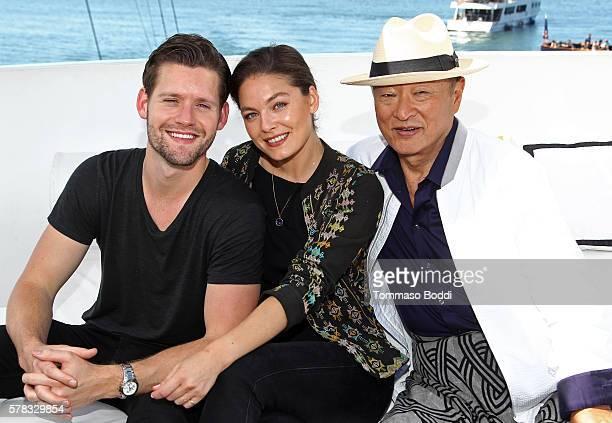 Actors Luke Kleintank, Alexa Davalos and Cary-Hiroyuki Tagawa attend the IMDb Yacht at San Diego Comic-Con 2016: Day One at The IMDb Yacht on July...