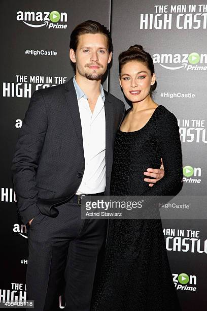 Actors Luke Kleintank and Alexa Davalos attend the episode screening and premiere for Amazon Originals Series 'The Man In The High Castle' at Alice...