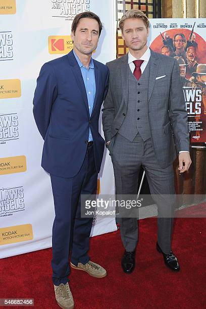 Actors Luke Wilson and Chad Michael Murray arrive at the Los Angeles Premiere 'Outlaws And Angels' at Ahrya Fine Arts Movie Theater on July 12 2016...