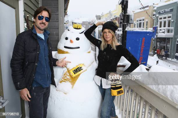 Actors Luke Wilson and Kaitlin Olson of 'Arizona' attend The IMDb Studio and The IMDb Show on Location at The Sundance Film Festival on January 20...