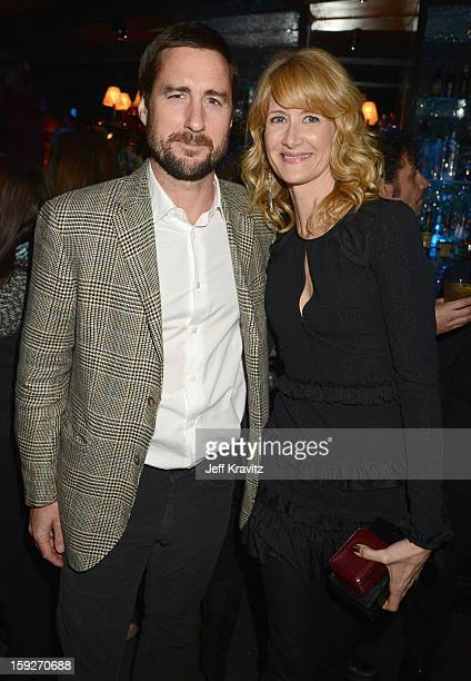 Actors Luke Wilson and Laura Dern attend the 'Enlightened' Season 2 Premiere presented by HBO at Avalon on January 10 2013 in Hollywood California