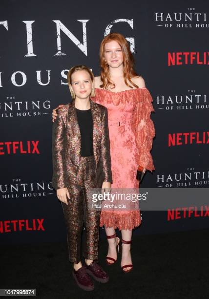 Actors Lulu Wilson and Annalise Basso attend Netflix's 'The Haunting Of Hill House' season 1 premiere at ArcLight Hollywood on October 8 2018 in...