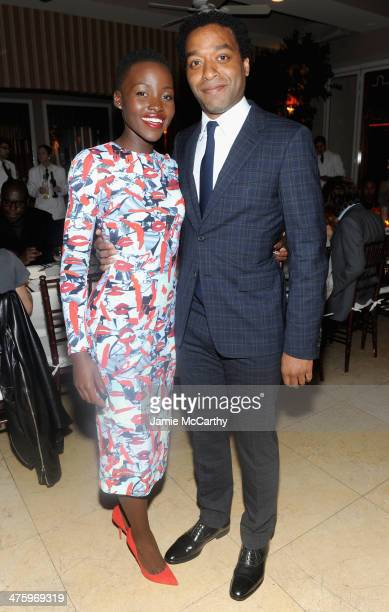 Actors Lupita Nyong'o and Chiwetel Ejiofor attend GREY GOOSE Hosted '12 Years A Slave' Dinner at Sunset Tower on March 1 2014 in West Hollywood...