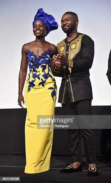 """Actors Lupita Nyong'o and David Oyelowo onstage at the world premiere of Disney's """"Queen of Katwe"""" at Roy Thompson Hall as part of the 2016 Toronto..."""