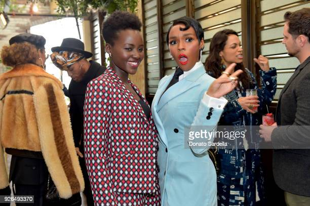 """Actors Lupita Nyong'o and Janelle Monae pose as Janelle Monae and Belvedere Vodka kick-off """"A Beautiful Future"""" Campaign with Fem the Future Brunch..."""