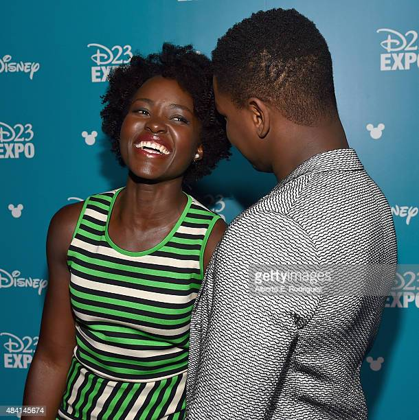 Actors Lupita Nyong'o and John Boyega of STAR WARS THE FORCE AWAKENS took part today in 'Worlds Galaxies and Universes Live Action at The Walt Disney...
