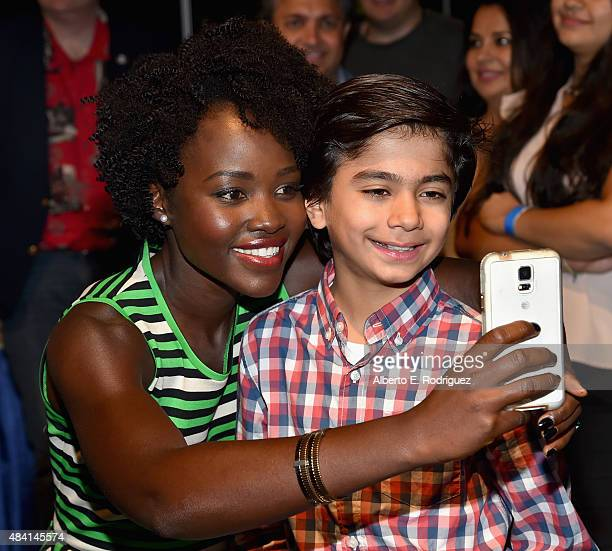 Actors Lupita Nyong'o and Neel Sethi of THE JUNGLE BOOK took part today in 'Worlds Galaxies and Universes Live Action at The Walt Disney Studios'...