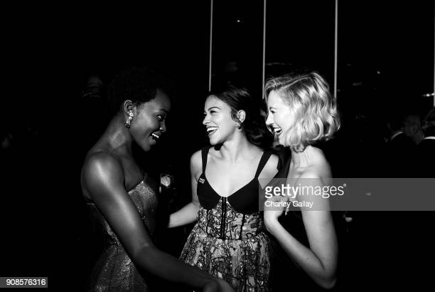 Actors Lupita Nyong'o Gina Rodriguez and Yael Grobglas attend People and EIF's Annual Screen Actors Guild Awards Gala sponsored by TNT and L'Oreal...