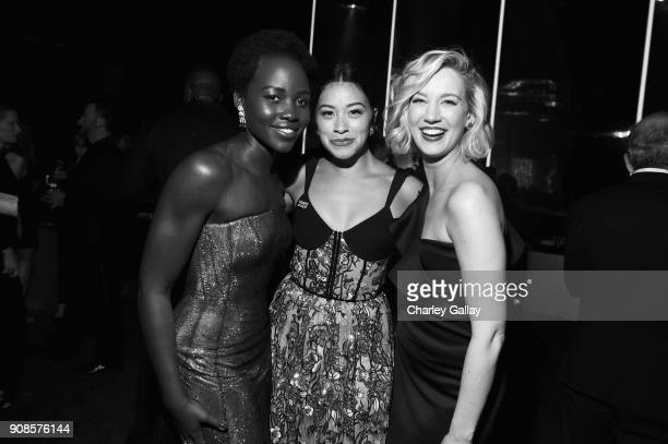 Actors Lupita Nyong'o Gina Rodriguez and Yael Grobglasattend People and EIF's Annual Screen Actors Guild Awards Gala sponsored by TNT and L'Oreal...