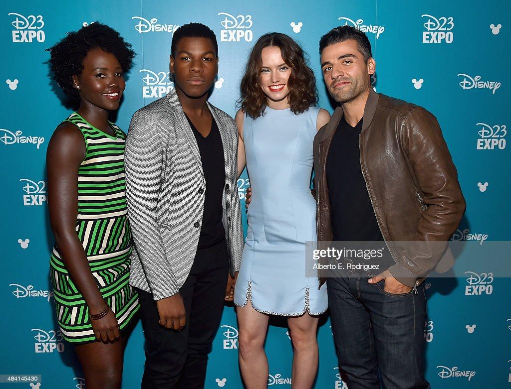 Actors Lupita Nyong'o, John Boyega, Daisy Ridley and Oscar Isaac of