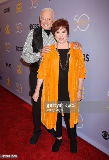 Actors Lyle Waggoner and Vicki Lawrence attend the CBS' 'The Carol Burnett Show 50th Anniversary Special' at CBS Televison City on October 4 2017 in...