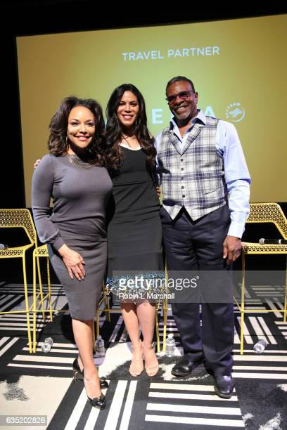Actors Lynn Whitfield Merle Dandridge and Keith David attend 5th Annual aTVfest on February 4 2017 in Atlanta Georgia