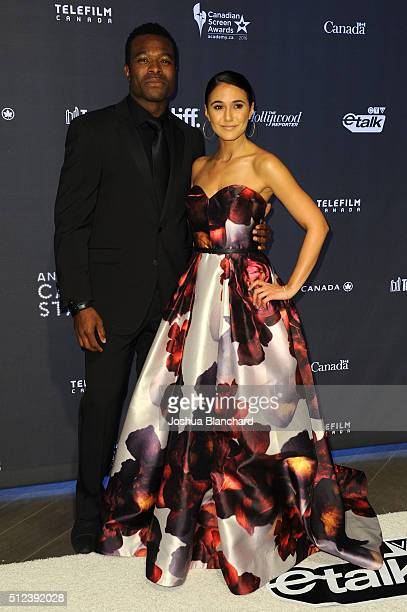 Actors Lyriq Bent and Emmanuelle Chriqui arrive at the 3rd Annual An Evening With Canada's Stars at the Four Seasons Hotel Los Angeles at Beverly...