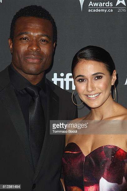 Actors Lyriq Bent and Emmanuelle Chriqui attend the 3rd Annual An Evening With Canada's Stars held at the Four Seasons Hotel Los Angeles at Beverly...