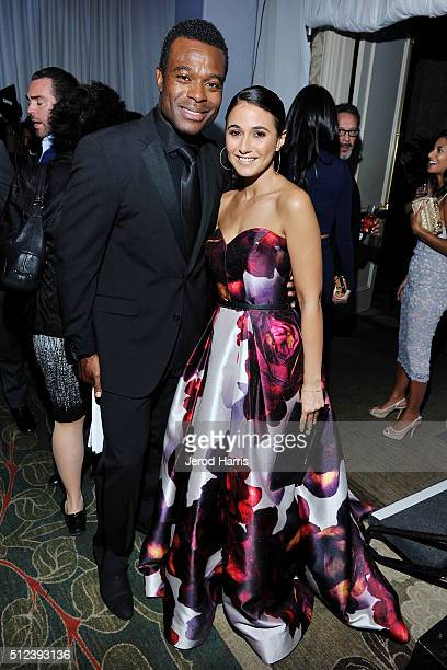 Actors Lyriq Bent and Emmanuelle Chriqui attend the 3rd Annual 'An Evening With Canada's Stars' at the Four Seasons Hotel Los Angeles on February 25...