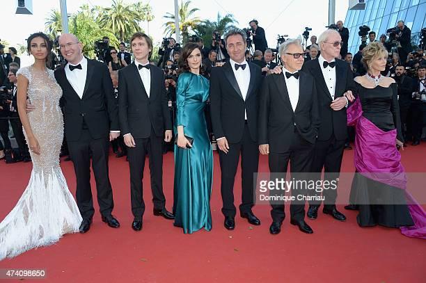 Actors Madalina Ghenea Alex Macqueen Paul Dano and Rachel Weisz director Paolo Sorrentino and actors Harvey Keitel Michael Caine and Jane Fonda...