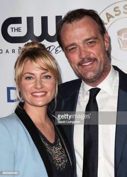 Actors Madchen Amick and Sean Bolger attend the 14th Annual Brass Ring Awards Dinner at The Beverly Hilton Hotel on June 8 2017 in Beverly Hills...