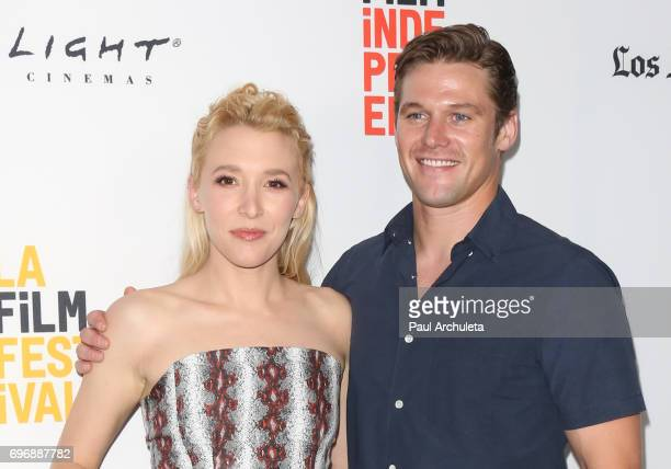 Actors Madelyn Deutch and Zach Roerig attend the 2017 Los Angeles Film Festival premiere Of 'The Year Of Spectacular Men' at ArcLight Santa Monica on...