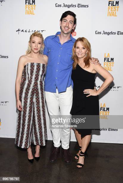 Actors Madelyn Deutch Nicholas Braun and Lea Thompson attend the 2017 Los Angeles Film Festival premiere of 'The Year Of Spectacular Men' at ArcLight...