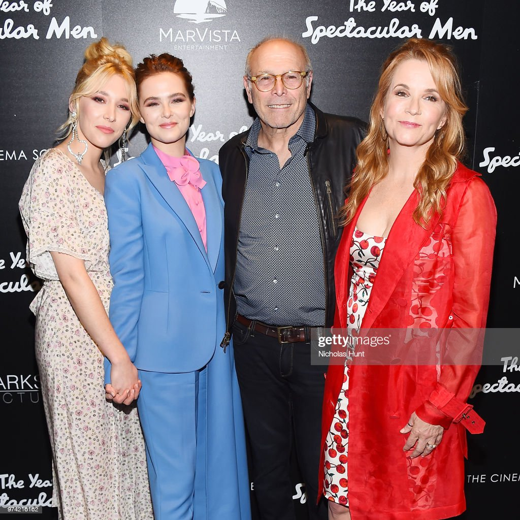 Actors Madelyn Deutch, Zoey Deutch, Howard Deutch and Lea Thompson attends 'The Year Of Spectacular Men' New York Premiere at The Landmark at 57 West on June 13, 2018 in New York City.