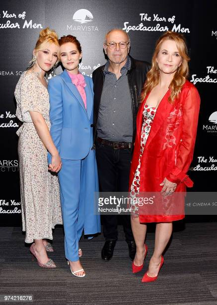 Actors Madelyn Deutch Zoey Deutch Howard Deutch and Lea Thompson attends 'The Year Of Spectacular Men' New York Premiere at The Landmark at 57 West...