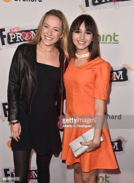 Actors Madison Lawler and Taylor Blackwell attend the premiere Of Orchard And Fine Brothers Entertainment's 'F*% The Prom' at ArcLight Hollywood on...