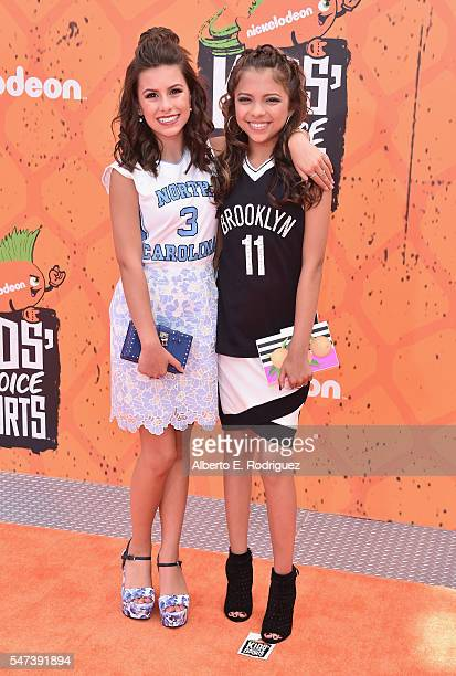 Actors Madisyn Shipman and Cree Cicchino attend the Nickelodeon Kids' Choice Sports Awards 2016 at UCLA's Pauley Pavilion on July 14 2016 in Westwood...