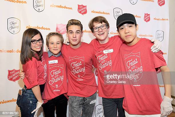 Actors Madisyn Shipman from Game Shakers Casey Simpson from Nicky Ricky Dicky Dawn Ricardo Hurtado from Glitch Techs and Aidan Miner and Lance Lim...