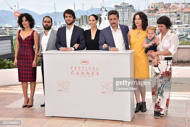 Actors Maeve Jinkings Fabio Leal Humberto Carrao Sonia Braga director Kleber Mendonca Filho producer Emilie Lesclaux and actress Amanda Gabriel...