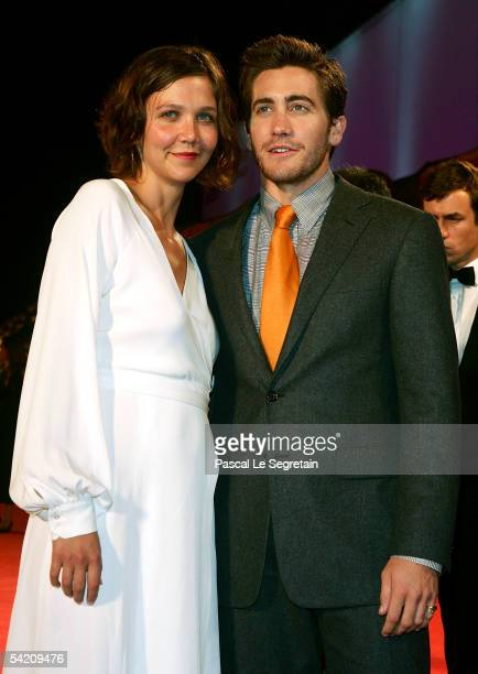 Actors Maggie and Jake Gyllenhaal attend the premiere for the incompetition film Brokeback Mountain at the Palazzo del Cinema on the third day of the...