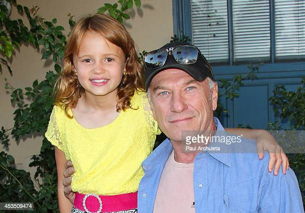 Actors Maggie Elizabeth Jones and Ted Levine attend the premiere of Child Of Grace at Raleigh Studios on August 11 2014 in Los Angeles California