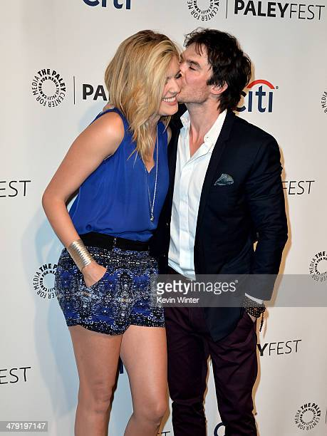 """Actors Maggie Grace and Ian Somerhalder arrive at The Paley Center Media's PaleyFest 2014 Honoring """"Lost"""" 10th Anniversary Reunion at the Dolby..."""